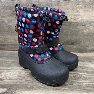 NEW Northside Thinsulate Black Polka Dot Snow Boot